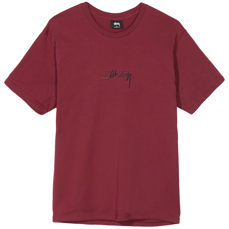 Stussy Smooth Stock T-shirt Wine