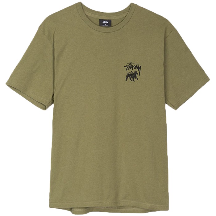 Stussy Stock Lion T-Shirt Olive