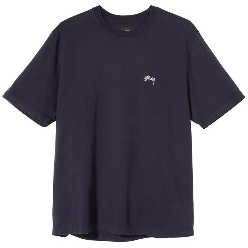Stussy Stock Logo SS Crewneck T-Shirt Black