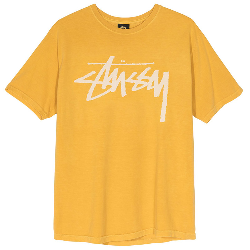 Stussy Stock Pig. Dyed T-Shirt Mustard
