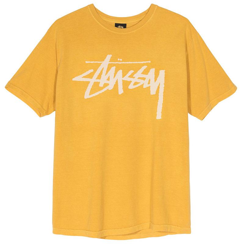 Stussy Stock Pig. Dyed T-Shirt Mustard