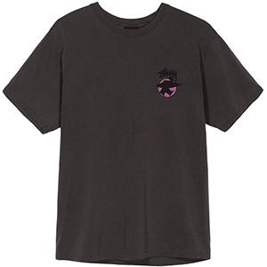 Stussy Surfman Dot Pig. Dyed T-Shirt Black