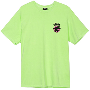 Stussy Surfman Dot Pig. Dyed T-Shirt Green