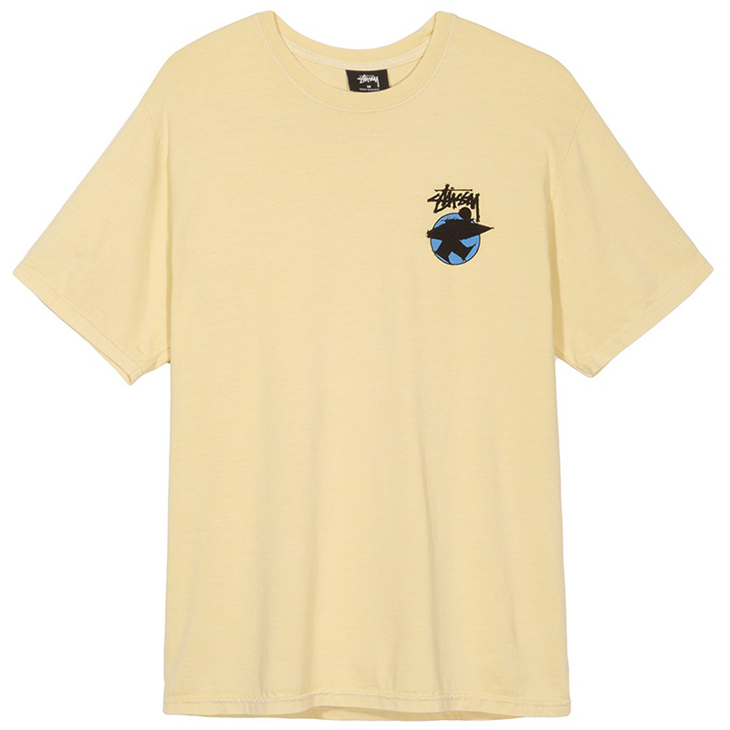 Stussy Surfman Dot Pig. Dyed T-Shirt Yellow