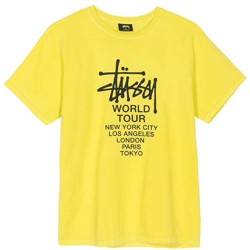 Stussy Tour Pig Dyed T-Shirt Lime