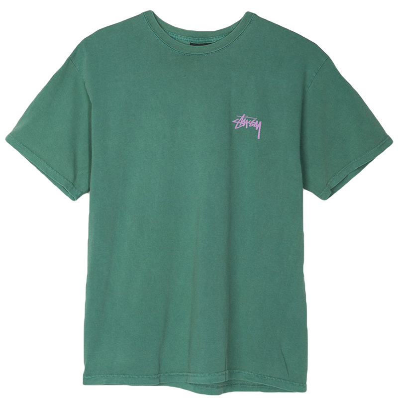 Stussy Warrior Pig. Dyed T-Shirt Green