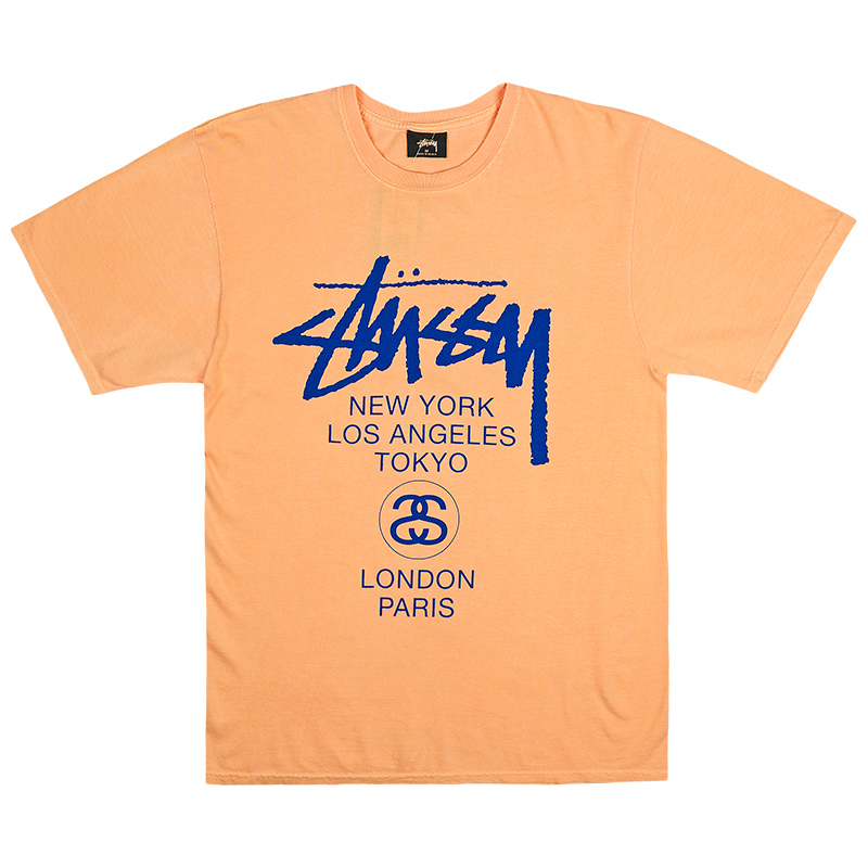 Stussy World Tour T-shirt Orange