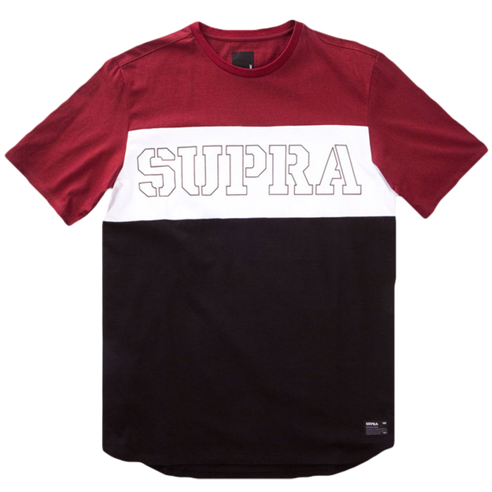 Supra Tri Block T-shirt Burgundy