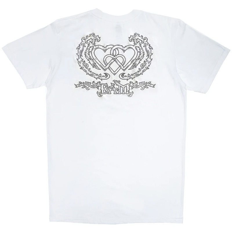 The Heart Supply Three Hearts  T-Shirt White