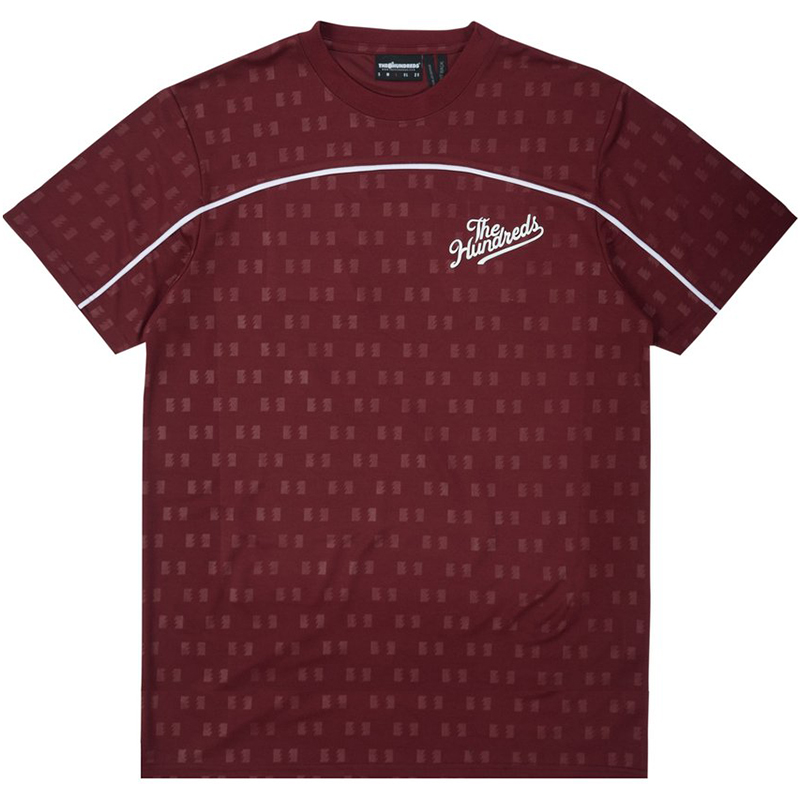 The Hundreds Roulette Jersey T-Shirt Burgundy