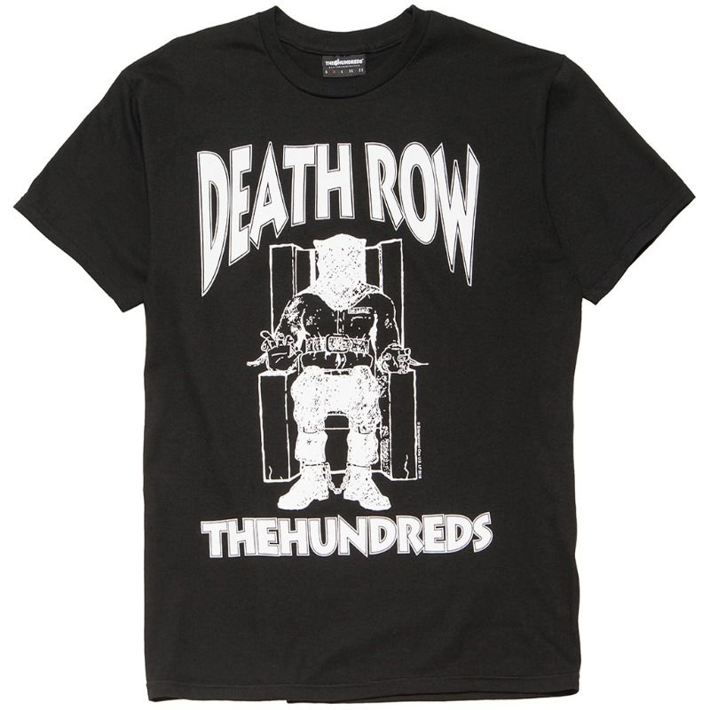 The Hundreds X  Death Row Classic T-shirt Black