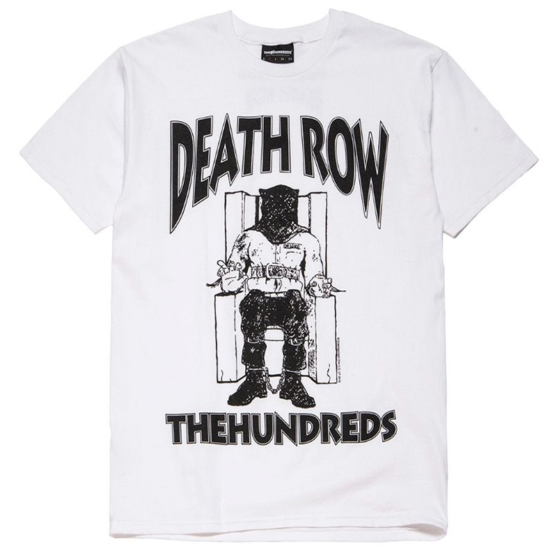 The Hundreds X Death Row Classic T-shirt White