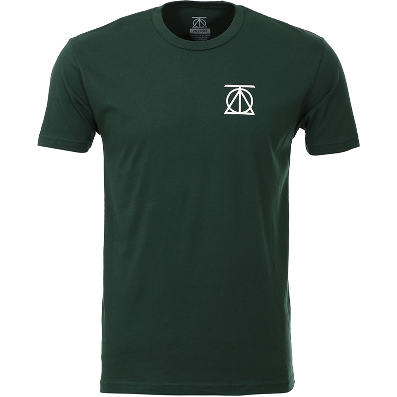 Theories Crest T-Shirt Forest Green/White