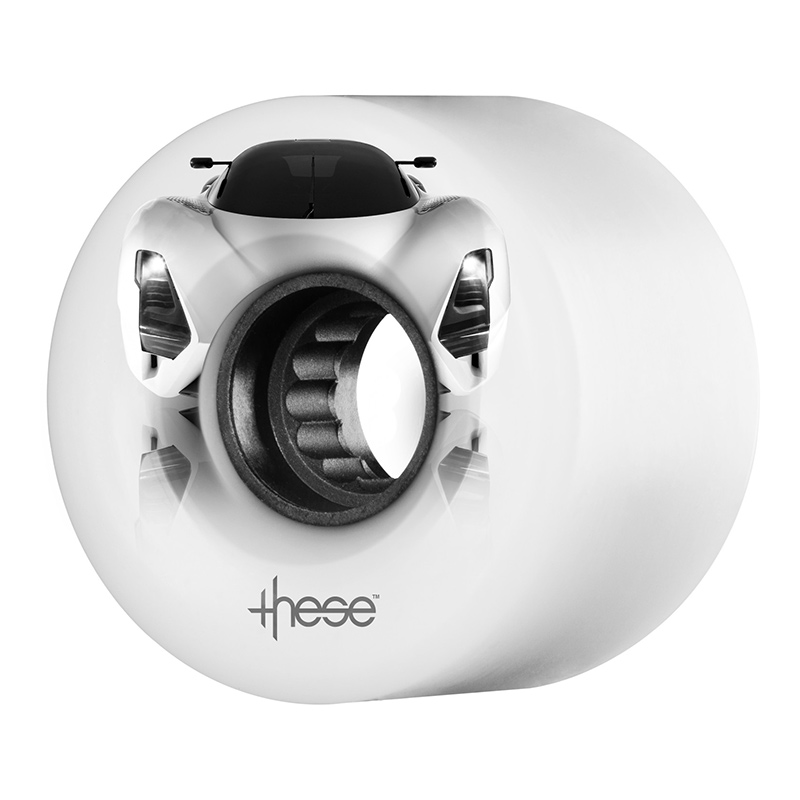 These Supercar ATF 327  Opaque White Wheel 82A 59mm x 40/32