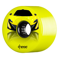 These Supercar ATF 327 Yellow Wheels 80A 59mm x 40/32
