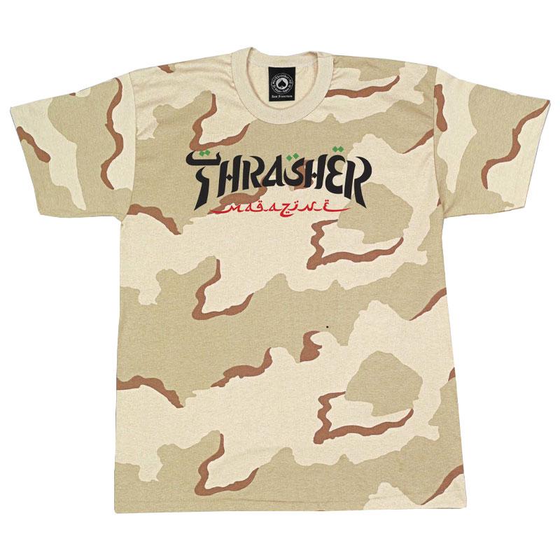 Thrasher Calligraphy T-Shirt Desert Camo