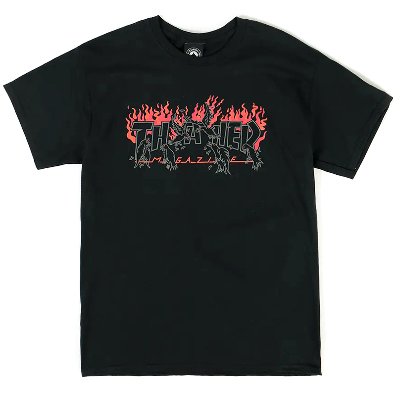 Thrasher Crows T-Shirt Black