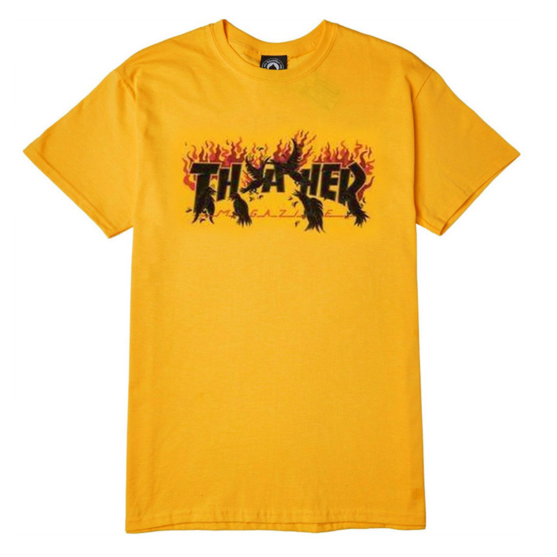 Thrasher Crows T-Shirt Gold