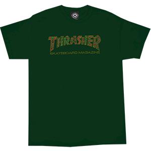 Thrasher Davis T-Shirt Forest Green