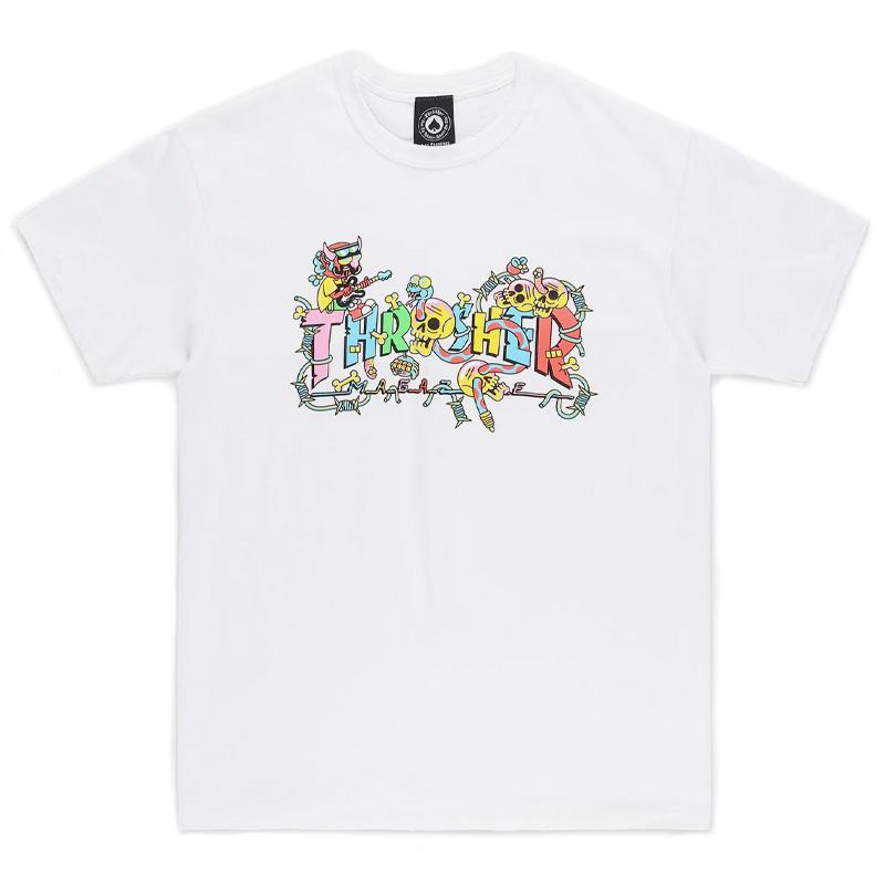 Thrasher Devil's Music T-shirt White
