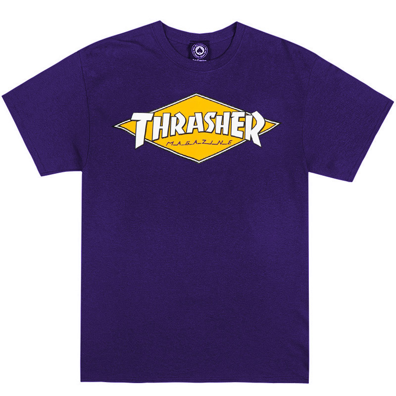 Thrasher Diamond Logo T-Shirt Purple