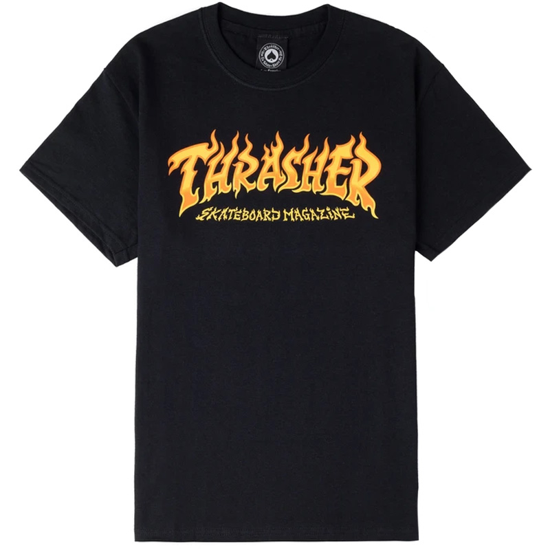 Thrasher Fire Logo T-Shirt Black