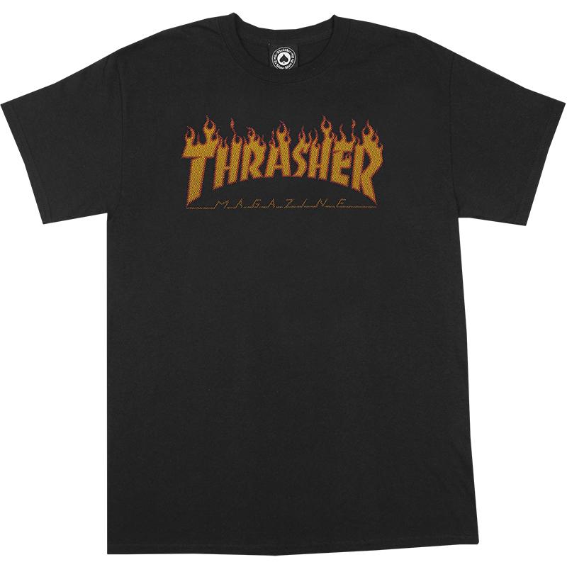Thrasher Flame Halftone T-Shirt Black