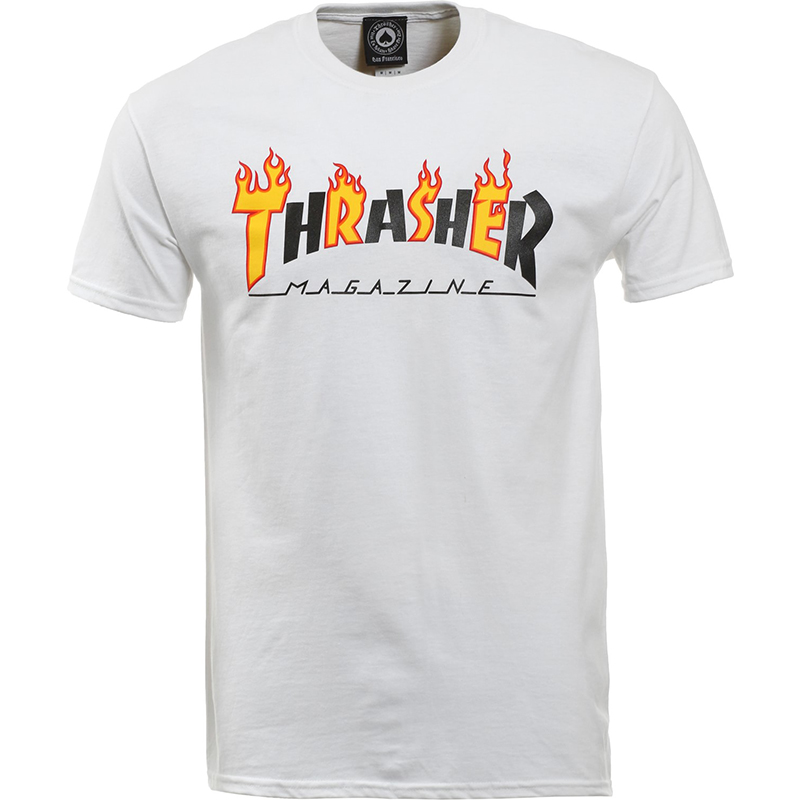 Thrasher Flame Mag T-shirt White