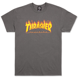 Thrasher Flame T-Shirt Charcoal