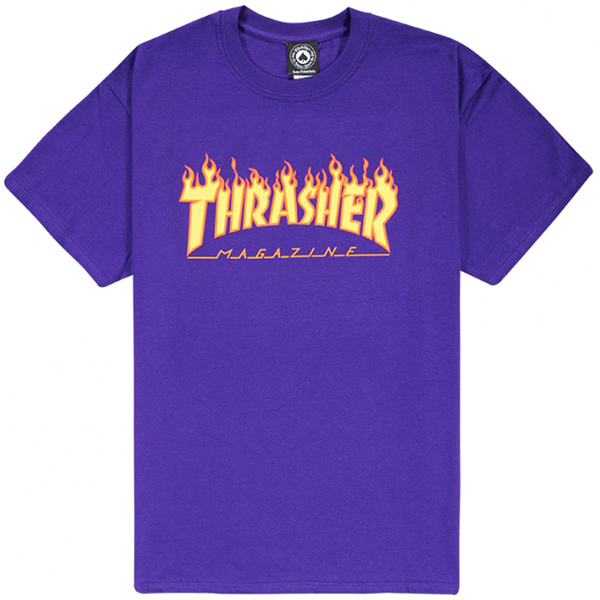 Thrasher Flame T-shirt Purple