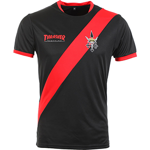 Thrasher Futbol Jersey Black/Red