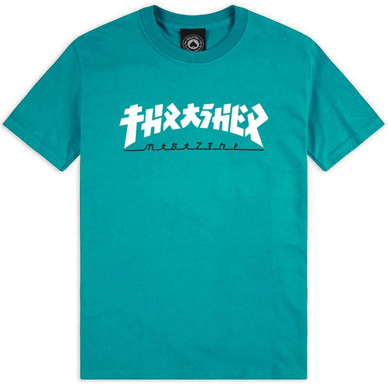 Thrasher Godzilla T-Shirt Jade