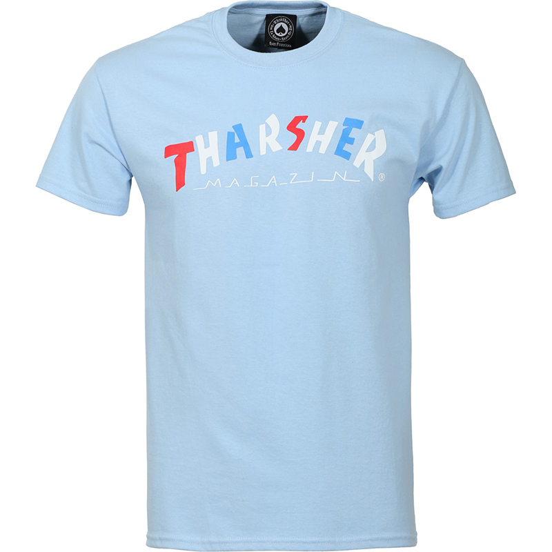 Thrasher Knock-Off T-shirt Light Blue