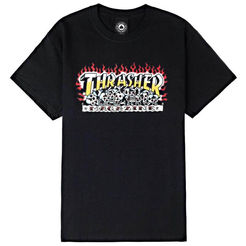 Thrasher Krak Skulls T-Shirt Black