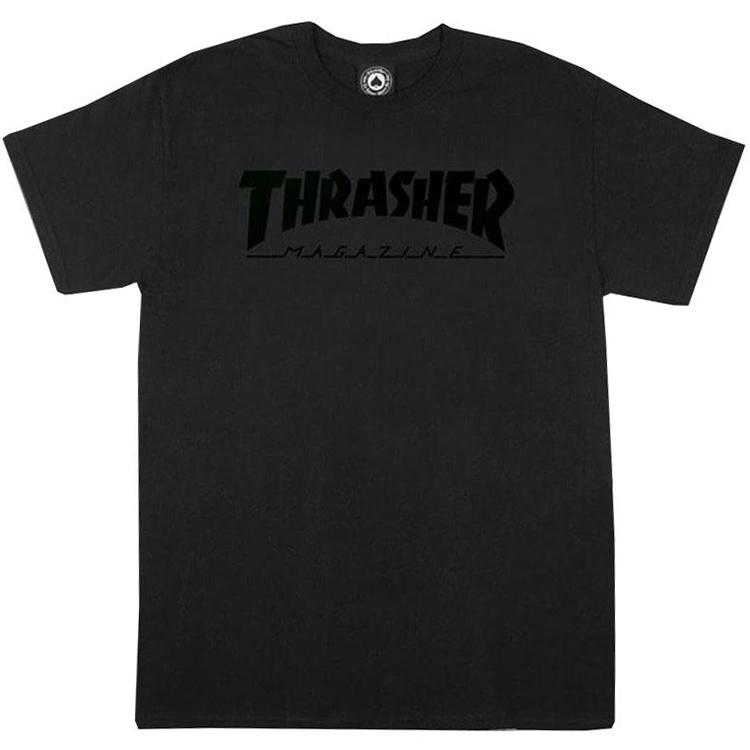 Thrasher Magazine Logo T-shirt Black/Black