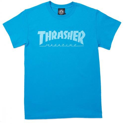 Thrasher Magazine Logo T-Shirt Sapphire