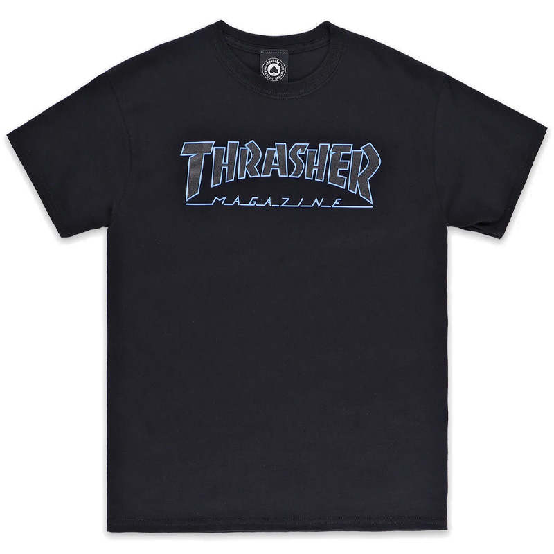Thrasher Outlined T-shirt Black/Black