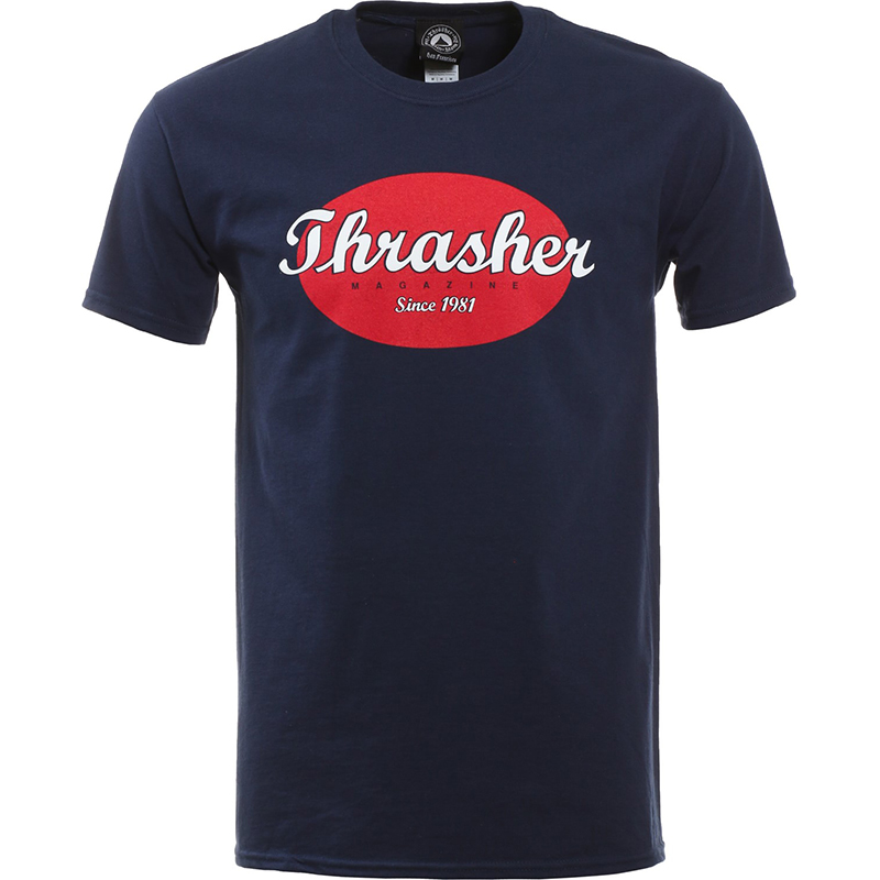 Thrasher Oval T-shirt Navy