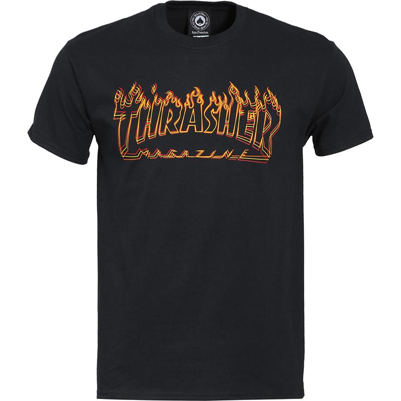 Thrasher Richter T-shirt Black