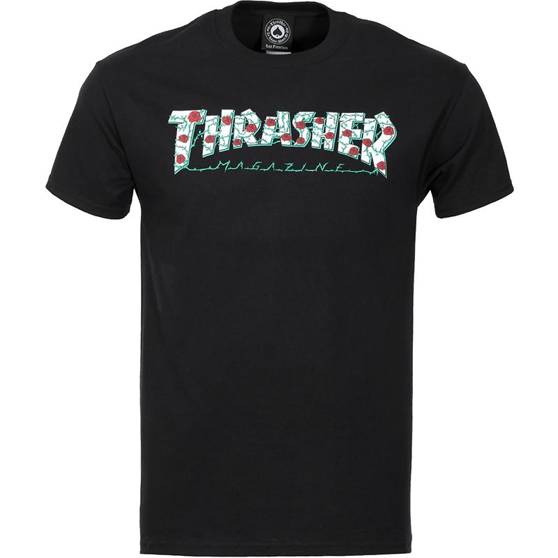 Thrasher Roses T-shirt Black