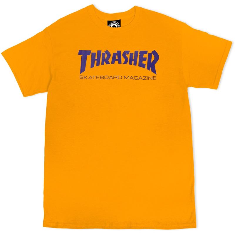 Thrasher Skate Mag T-shirt Gold Purple