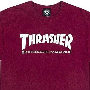 5f7fb3d96e1 Thrasher Skate Mag T-Shirt Maroon. undefined. Loading zoom