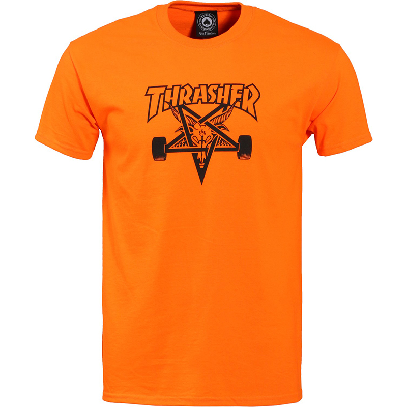 Thrasher Skategoat T-shirt Satety Orange