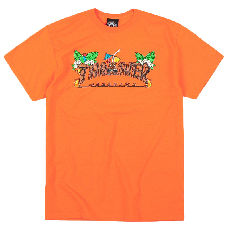 Thrasher Tiki T-Shirt Safety Orange