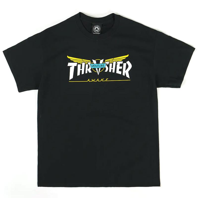 Thrasher x Venture T-Shirt Black