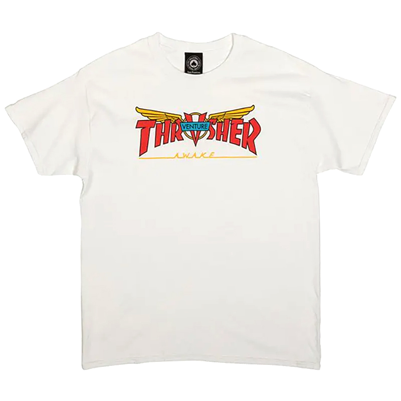 Thrasher x Venture T-Shirt White
