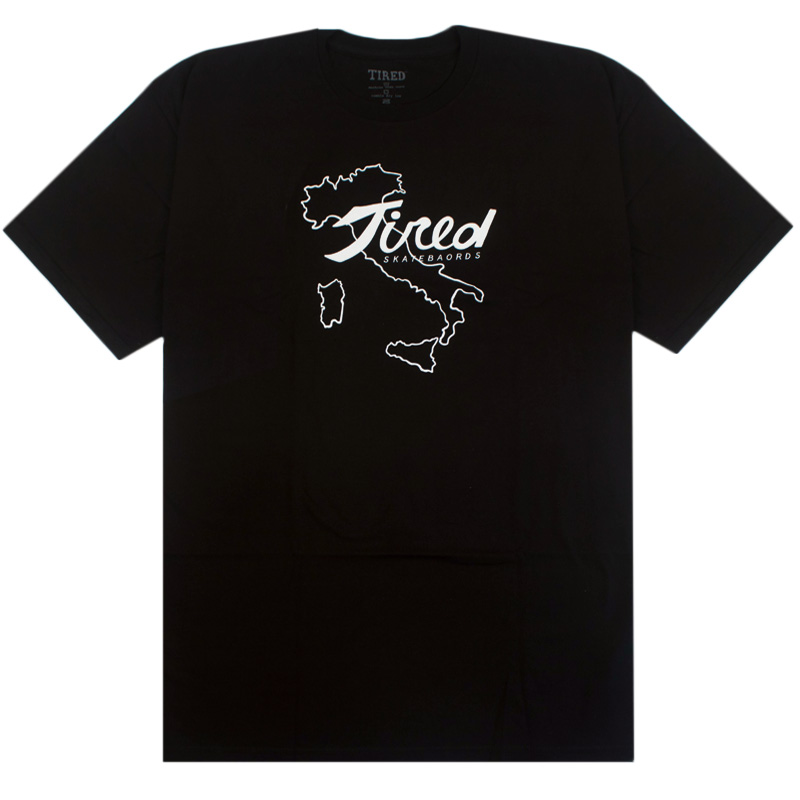 Tired Italy Tired T-Shirt Black