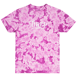 Tired Swoop T-Shirt Washed Lavender