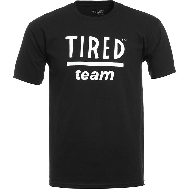 Tired Team T-Shirt Black