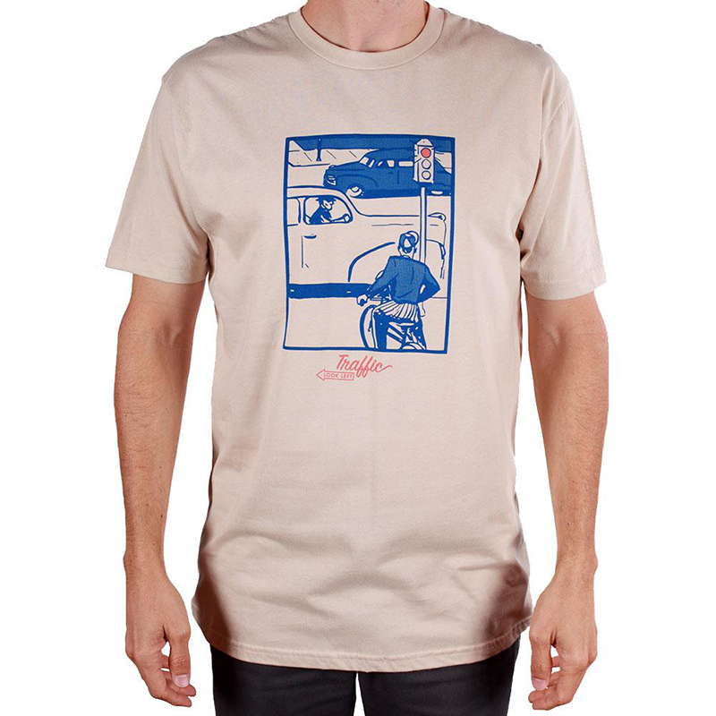 Traffic Caution T-Shirt Cream